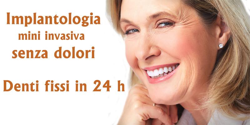 Implantologia indolore Bari e Taranto. Dentista Resta impianti dentali