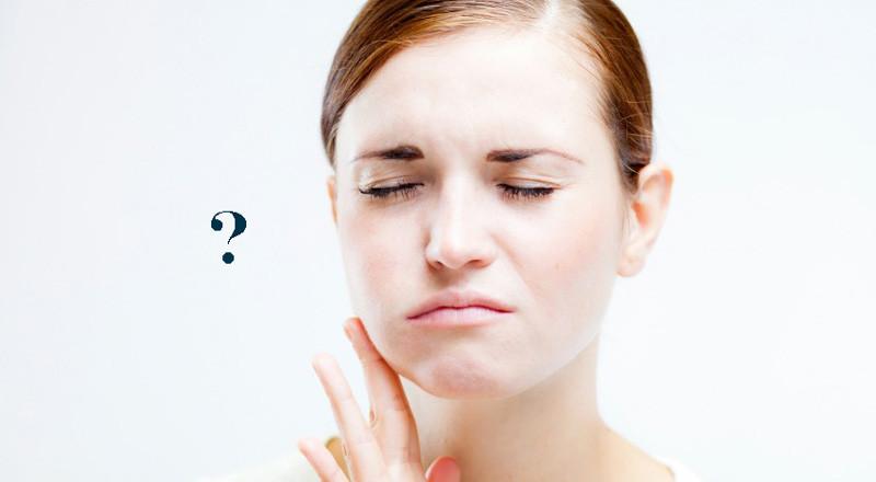 guancia gonfia senza dolore